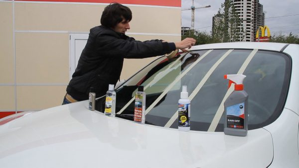 Антидождь: обзор популярных средств для обработки лобового стекла