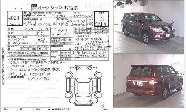 Как правильно читать аукционный лист японского автомобиля