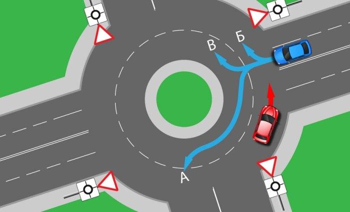 Как проезжать круговое движение